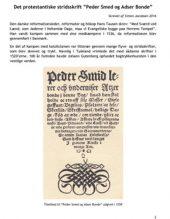 En historie om Peder Smed og Adser Bonde